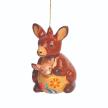 Kangaroo Confetti Ceramic Ornament