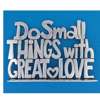 """""""Do Small Things"""" Quote Plaque PLS-17"""