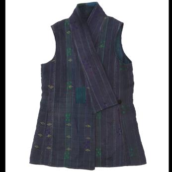 Unisex Vest Coat - Reversible Upcycled Vintage Textile Vegan // Custom Colors