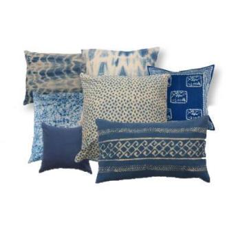 Assorted Indigo cushions