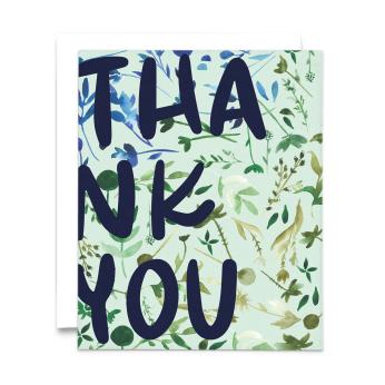 Big Thank You Watercolor Greeting Card