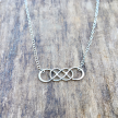 Double Infinity Necklace, sterling silver