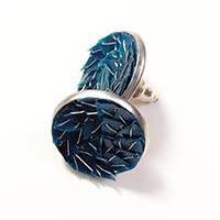 Stainless steel mini earrings – blue
