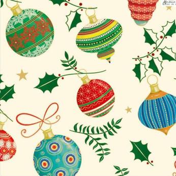 Christmas Bulbs Wrapping Paper by KARTOS