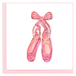 Quilled Ballet Slippers Greeting Card