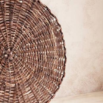 Woven Round Bayal Placemat - Itza Wood
