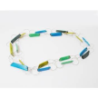 Tagua Fragment Mod Necklace With Metal Design Accents
