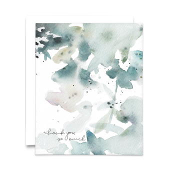 Abstract Watercolor Thank You Cards