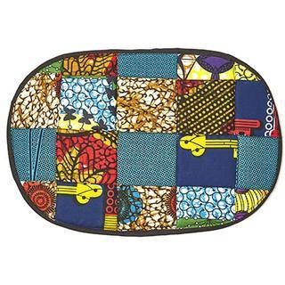 Table Place Mat Kitenge Patch - Oval