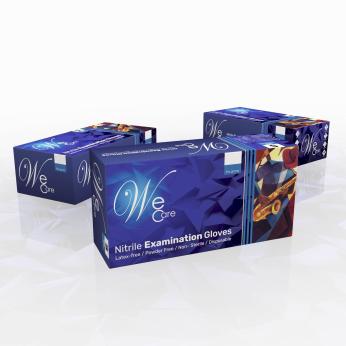 WeCare Powder Free Dental Nitrile Gloves (Dark Blue)