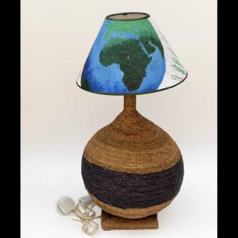 Woven OCHA Gourd Lamp - Water Hyacinth