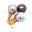 Tri-Color Tahitian Pearl Ring