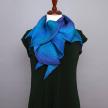 Zigzag Shibori Scarf, Blue & Purple