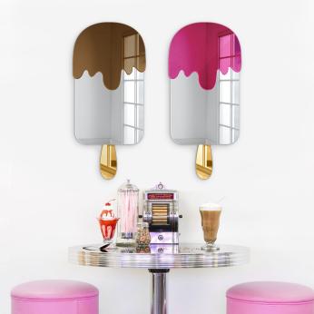 Ice Cream Wall Decor | Mirror Acrylic Finish | Ready to Hang