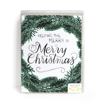 Merry Christmas Cards, Set of 8