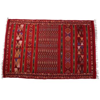 Handwoven wool carpet