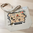 Illustrated Map Designs Tote Bags - Central United States