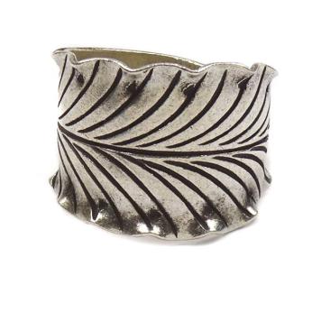 Tribal Leaf Sterling Ring
