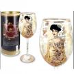 Carmani 12 Oz Fine Porcelain Cup Decorated w/G. Klimt's Painting
