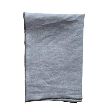 Stonewashed linen napkins in light grey - set of 4