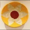 Multicoloured Flower Handwoven Wall Basket