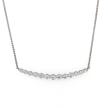 Graduated Diamond Bar Pendant Necklace
