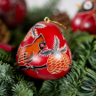 Cardinal on a Branch Gourd Ornament
