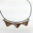 Triple Arrow Necklace in cherry wood
