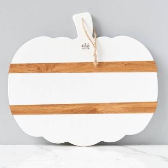 White Mod Pumpkin Charcuterie Board, Large