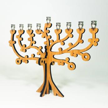 Tree of Life Bamboo Menorah