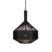 Anglo Buri and Wicker Ceiling Light Pendant