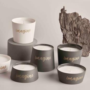 DECORATIVE OBJECTS Imagine Conic Medium Candle