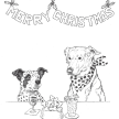 dogs + cats - Holiday Greeting Card