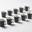 FIGURES ESPRESSO Cup With Saucer Double Color