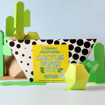 Cactus San Pedro Paper Toy, Interactive objects
