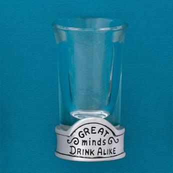 Great Minds Shot Glass