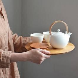 Yamasakura - serving plate (tray) circle