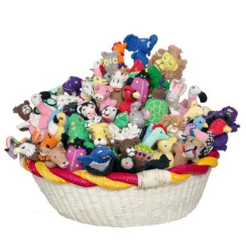 Animal Mix Organic Cotton Finger Puppet (sold in 100's)