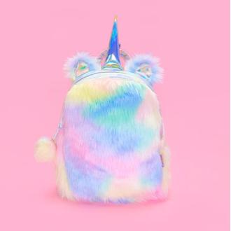 Plush Rainbow Unicorn Backpack - Sunshine