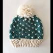 Reversible Tuck Stitch Pompom Hat