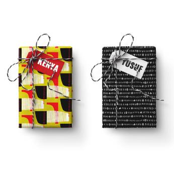 Kenya-Yusuf Double Sided FOLKUS Gift Wrapping Paper