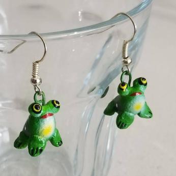 Ilobasco Clay Earrings - Frog