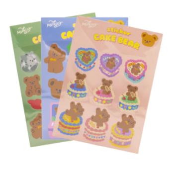 Cute Bear Sticker Pack (12pc)