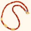 Carnelian and Ashanti Gold Necklace