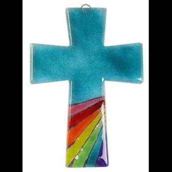 Glass Cross Rainbow Trapeze