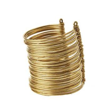 Wakanda Multi Strand Brass Cuffs - Long