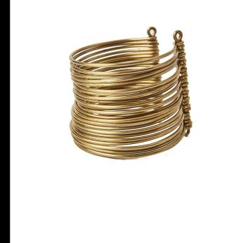 Wakanda Multi Strand Brass Cuffs - Short