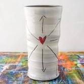 """""""Love All>>>Ways"""" Round Vase"""