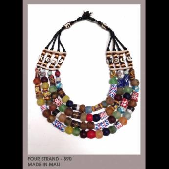 Mali 4 Strand Necklace