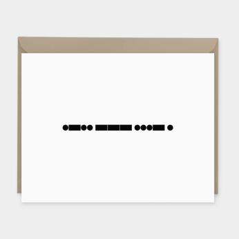Morse Code Love Card
